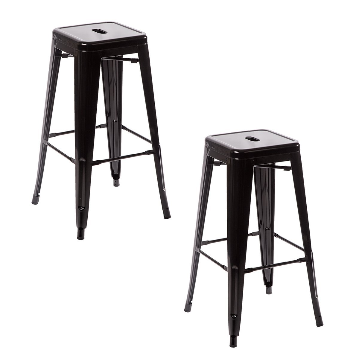 Metal Frame Tolix Style Bar Stool Industrial Chair Set Bar