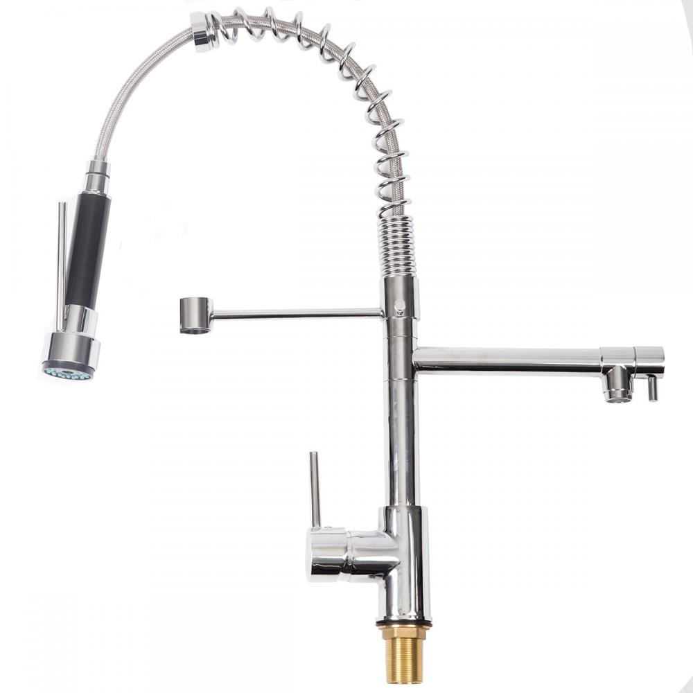 kitchen swivel pull out faucet single handle spout basin