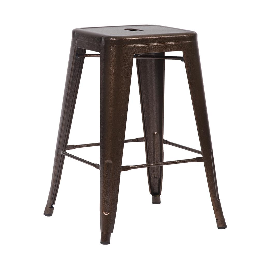 New 24 Bronze Metal Frame Tolix Style Bar Stools Chair
