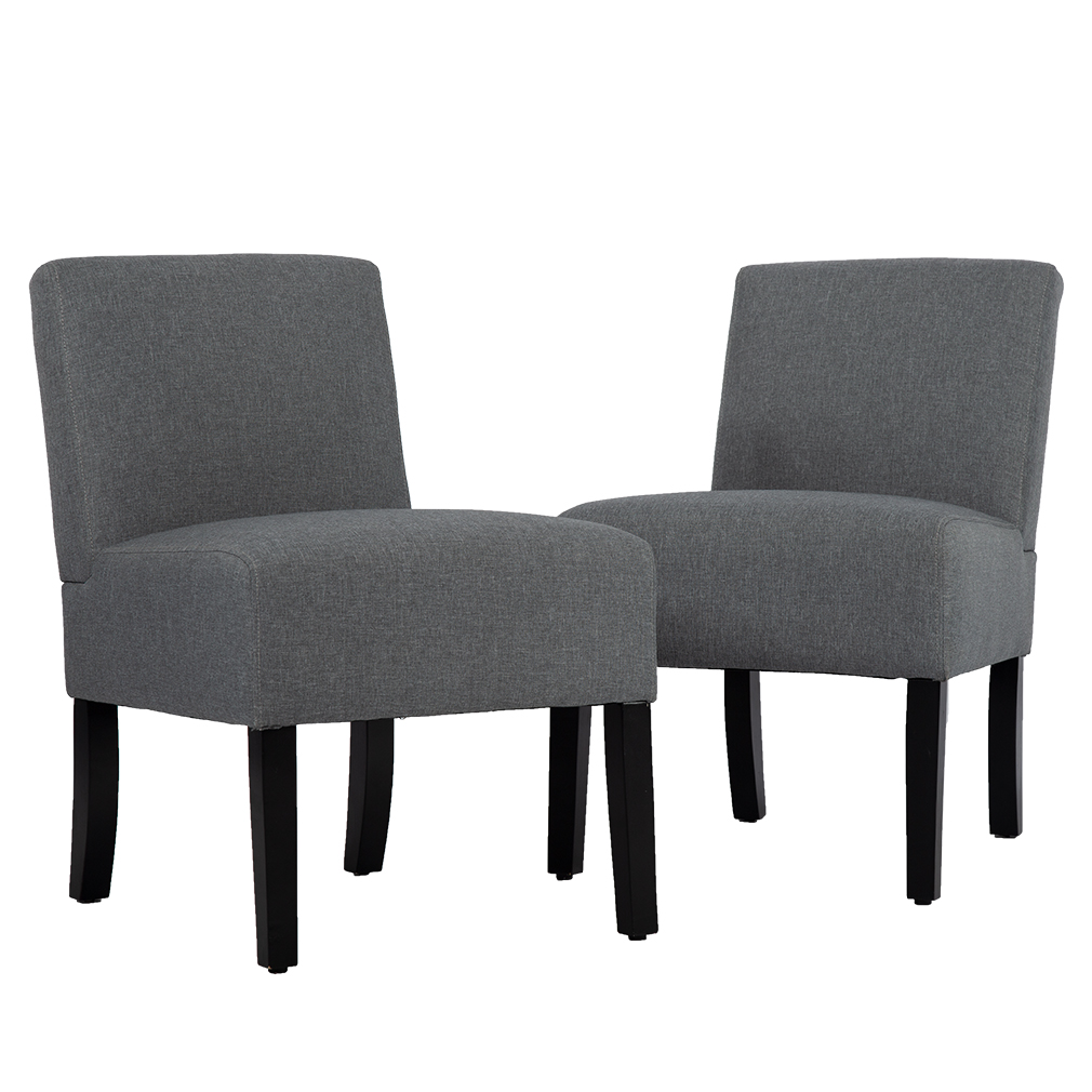 Set Of 2 Living Room Accent Chairs.Living Room Chairs Upholstered Accent Chair Sofa Club Side Chair Fabric Armless Chair Set Of 2
